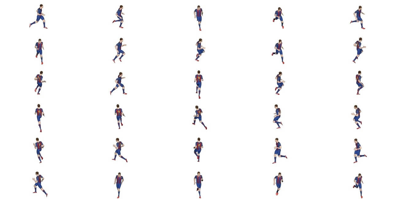 Player running frames