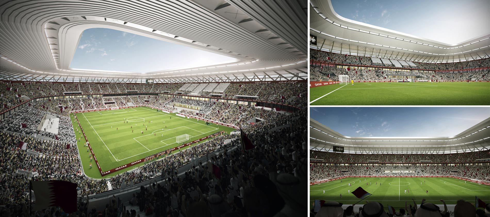 L'interior no es diferencia dels estadis construïts de manera convencional.