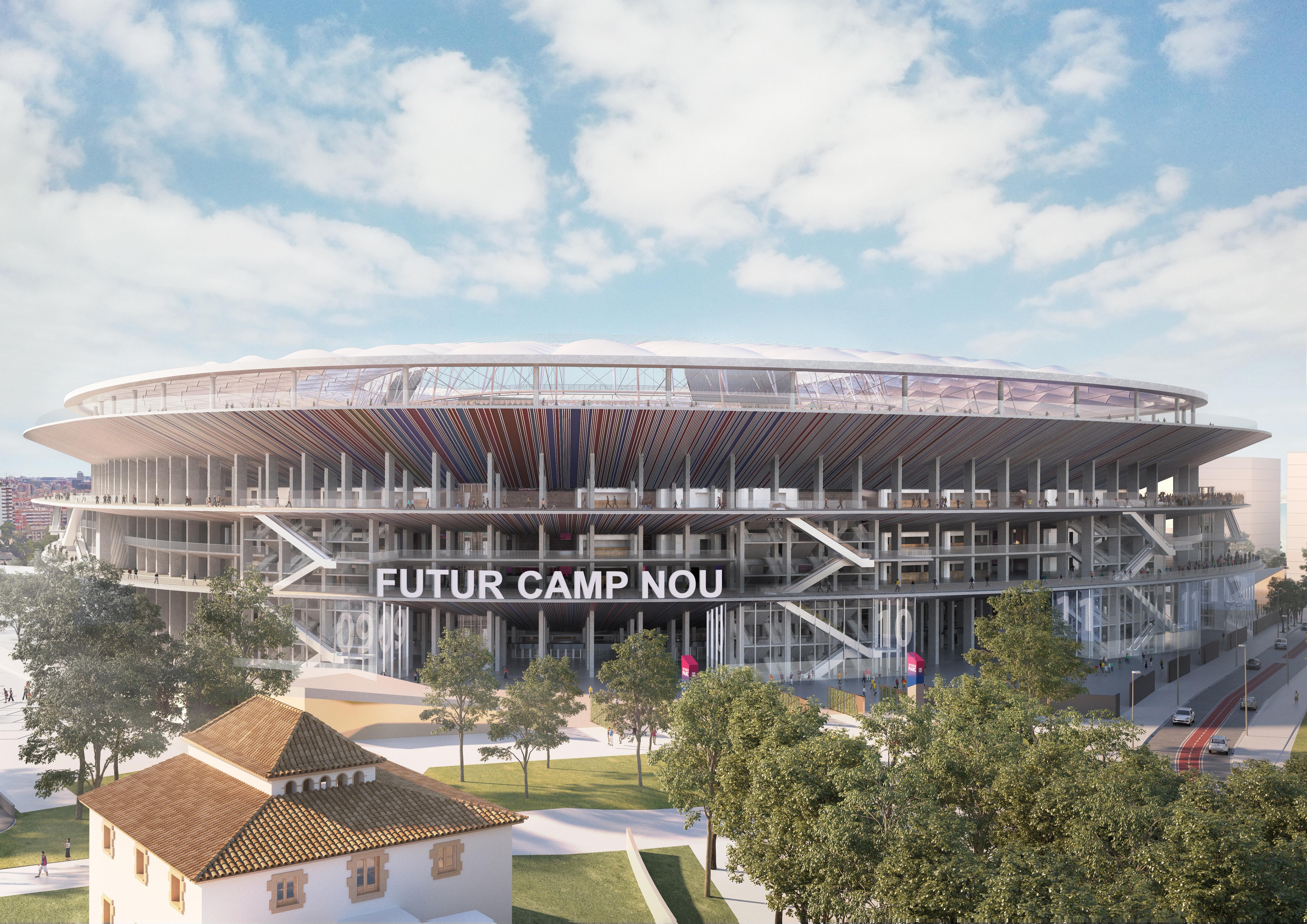 Estadios urbanos: Santiago Bernabéu, Feyenoord City y Camp Nou